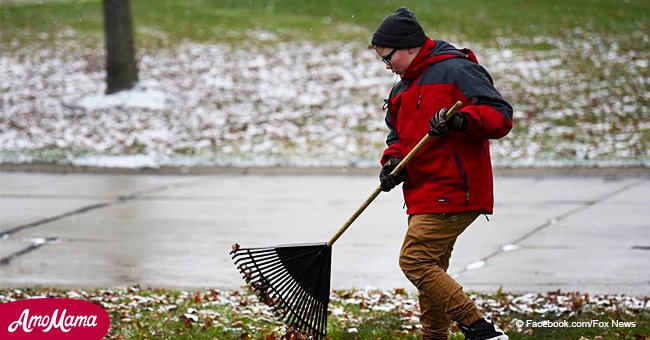 12-year-old boy rakes leaves to raise money to buy a gravestone for a friend who died of cancer