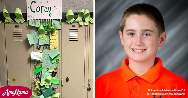 'We will miss you': students at Corey Brown's school decorate his locker in a touching tribute