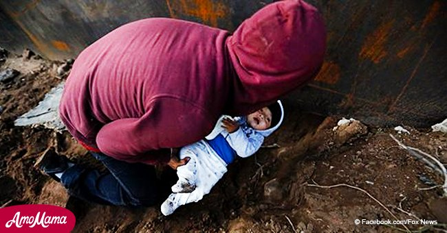 Honduran migrant pushes 8-month-old under a hole in attempt to illegally cross US-Mexico border