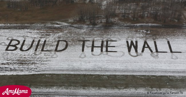 The retired 78-year-old North Dakota farmer plowed the message for the President