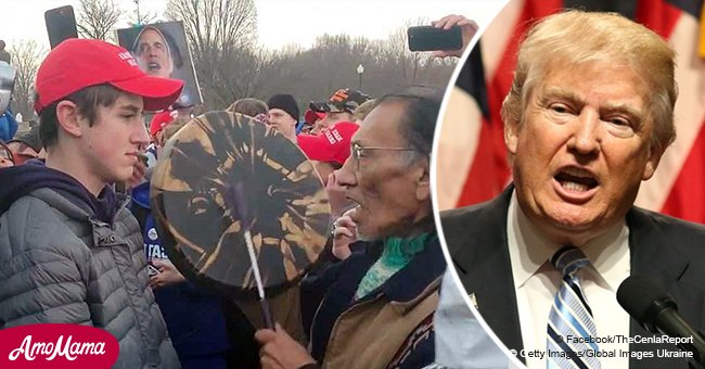 President Trump speaks out on situation involving a student accused of mocking a Native American