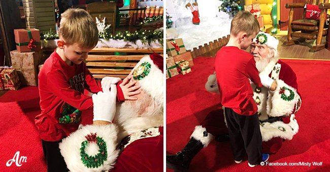 Autistic and blind 6-year-old boy gets heartwarming surprise from Santa before Christmas