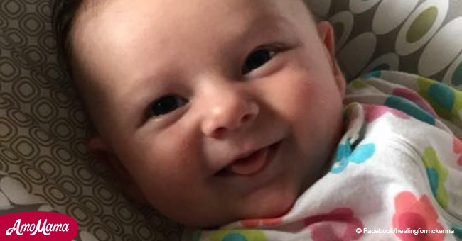 Baby fights for her life after being hit in the head with a softball while in mom's arms