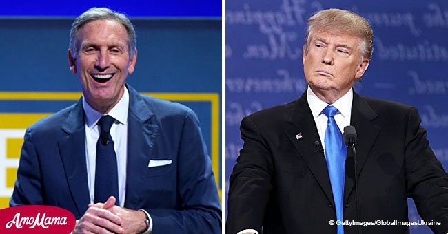 Donald Trump slams Howard Schultz saying he 'doesn't have the 'guts' to run for President'