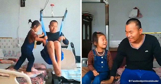 Une fillette de 6 ans s'occupe de son père handicapé après le départ de sa mère