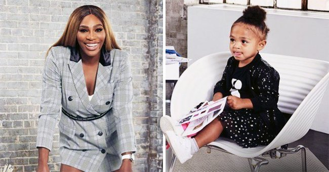 Serena Williams' Daughter Olympia Is Her Adorable Business Associate in a Sparkly Black Outfit