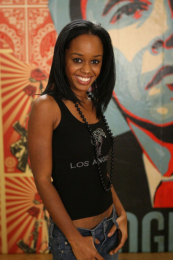 """Jaimee Foxworth during Shepard Fairey's """"Vote For Change"""" shoot at Subliminal Projects gallery on October 7, 2008 in Los Angeles, California. 