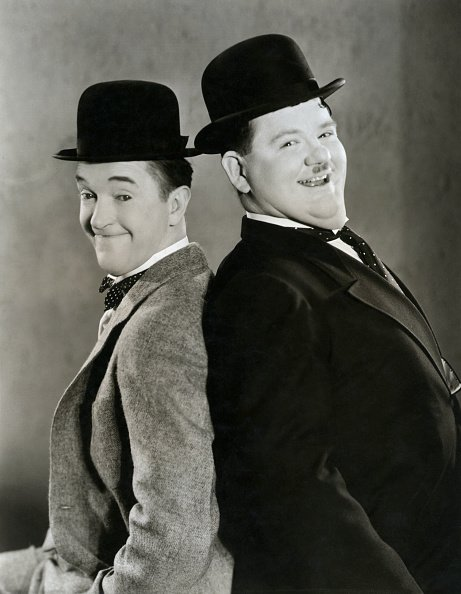 """Stan Laurel und Oliver Hardy, """"Sons of the Desert"""", 1934 