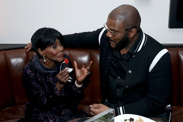 """Cicely Tyson and Tyler Perry at the Netflix Premiere of """"A Fall From Grace"""" at Metrograph on January 13, 2020 in New York City.