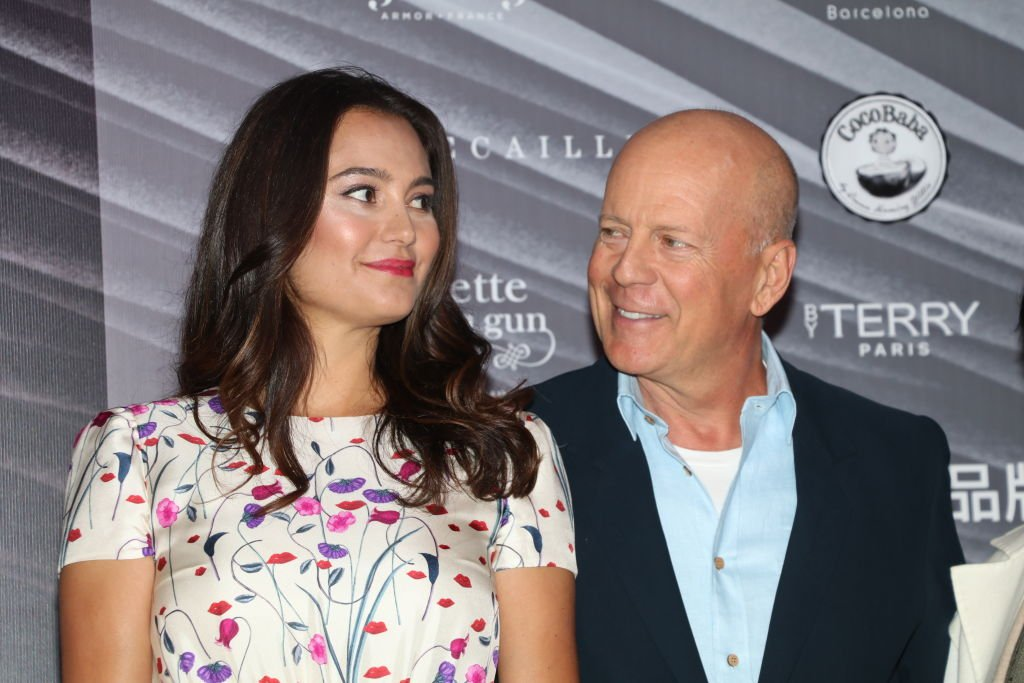 Bruce Willis and his wife Emma Hemming attending CocoBaba and Ushopal activity, 2019 in Shanghai, China. | Photo: Getty Images