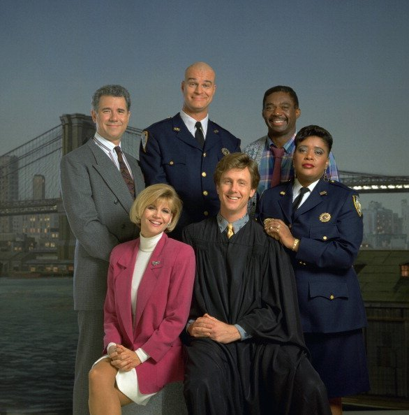 "John Larroquette, Markie Post, Richard Moll, Harry Anderson, Charles Robinson on ""Night Court"" 