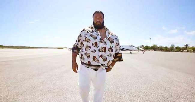 Watch DJ Khaled Walk with His Adorable Family as He Heads to a Studio on a Private Jet