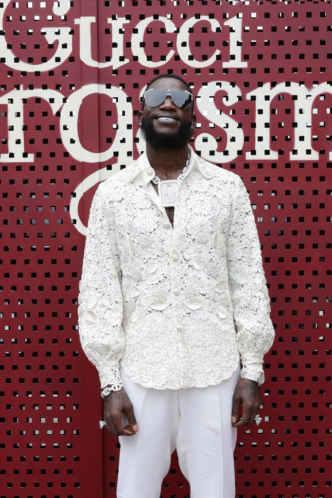 Logo has been digitally retouched.) Gucci Mane arrives at the Gucci show during Milan Fashion Week Spring/Summer 2020 | Photo: Getty Images