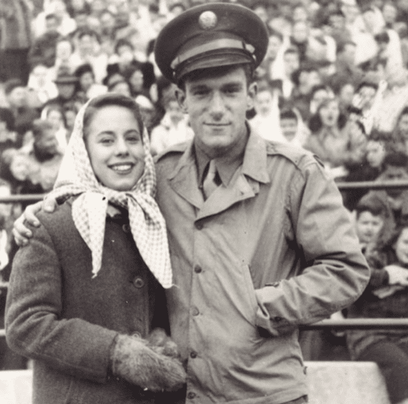 Hugh Hefner and his wife from 1949 t0 1959, Mildred Williams. | Photo: YouTube/BeforeTheyWereFamous