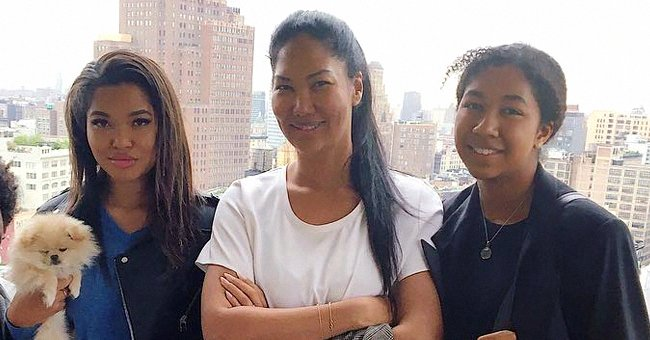 Kimora Lee Simmons' Daughter Aoki Exposes Her Cleavage in an Unbuttoned Dress With a Black Bra
