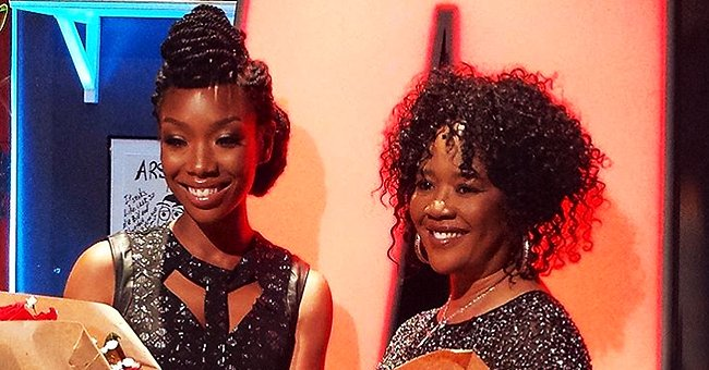 Brandy Norwood of 'Moesha' Poses with Beautiful Mom Sonja in a Photo