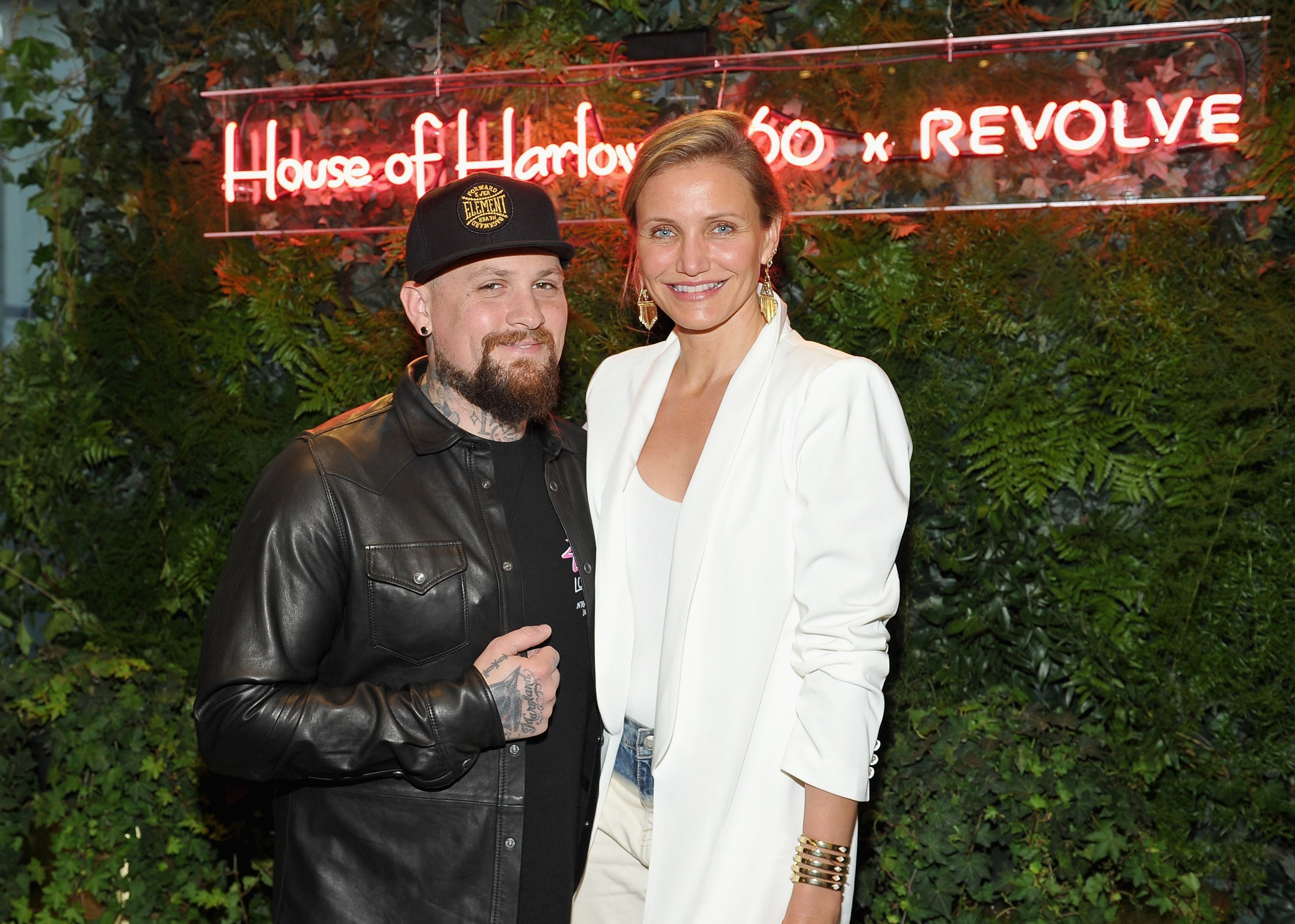 Benji Madden and actress Cameron Diaz attend House of Harlow 1960 x REVOLVE on June 2, 2016. | Source: Getty Images