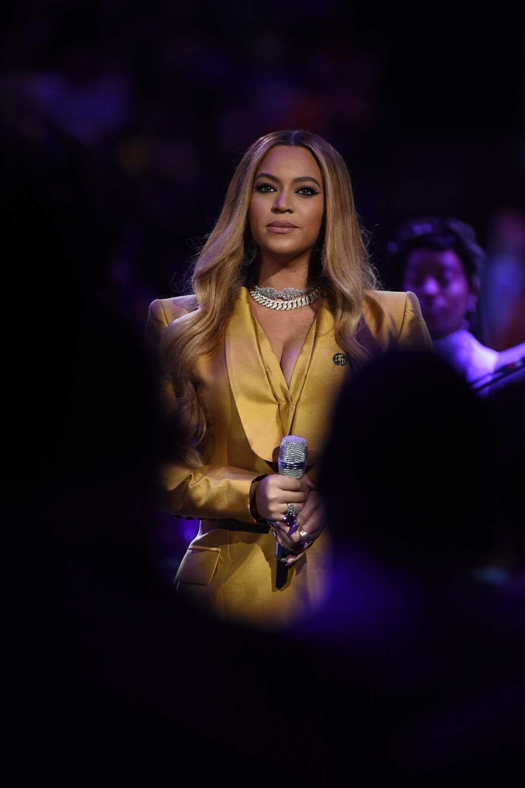 Beyoncé at the Kobe Bryant Memorial Service on February 24, 2020  | Photo: Getty Images