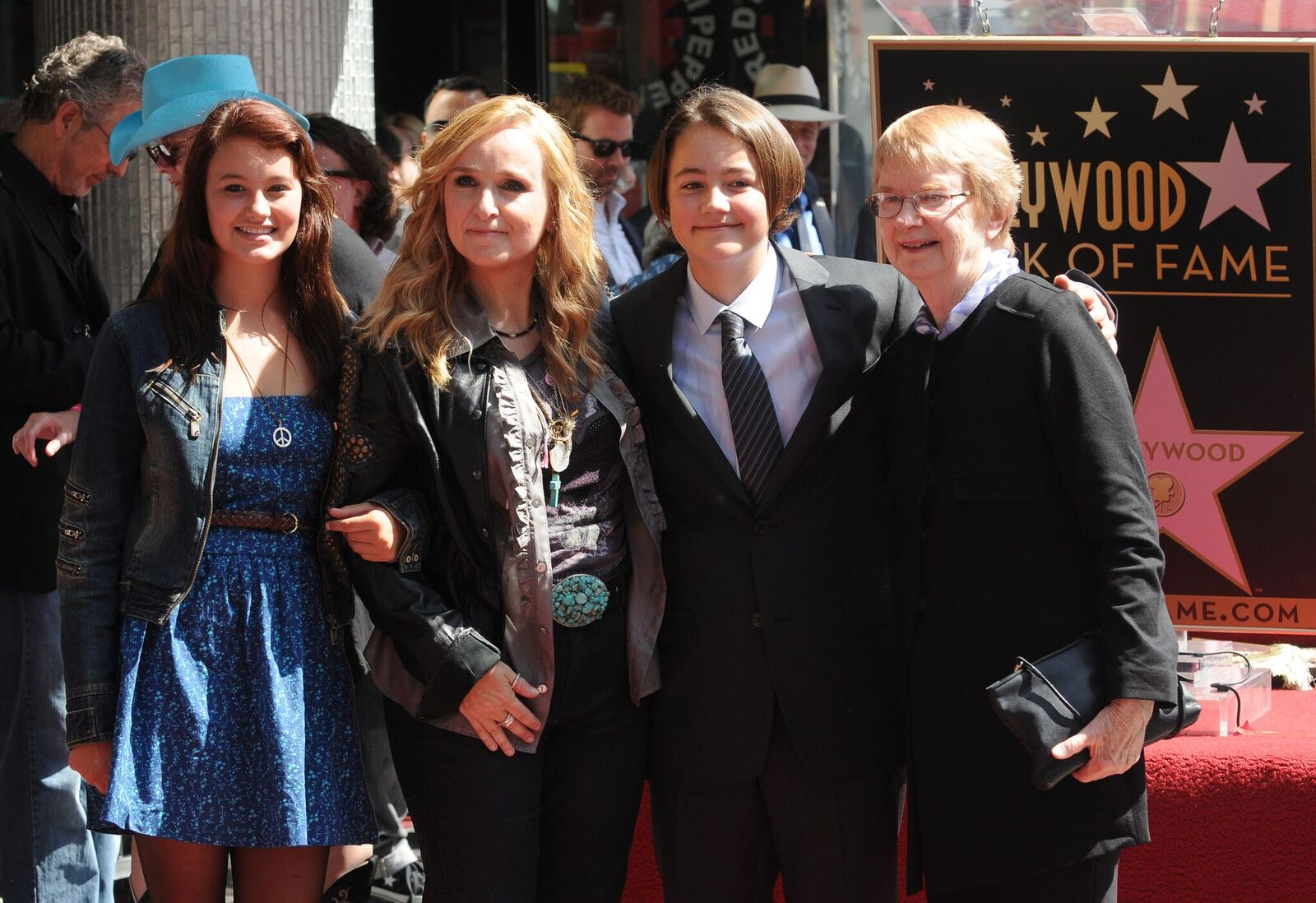 Bailey Cypher, Melissa Etheridge, Beckett Cypher, and Elizabeth Williamson atEtheridge's Hollywood Walk of Fame Induction Ceremony on September 27, 2011, in Hollywood, California | Photo:Duffy-Marie Arnoult/WireImage/Getty Images