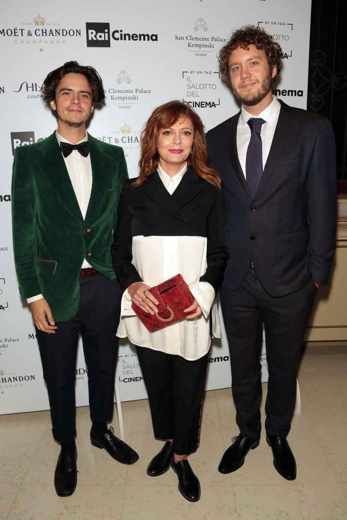 Miles Robbins, Susan Sarandon and Jack Henry Robbins at the 74th Venice Film Festival on September 1, 2017 | Photo: GettyImages