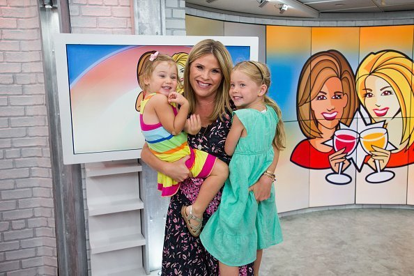 Jenna Bush Hager with daughters Poppie Louise and Mila on Monday, August 27, 2018 | Photo: Getty Images