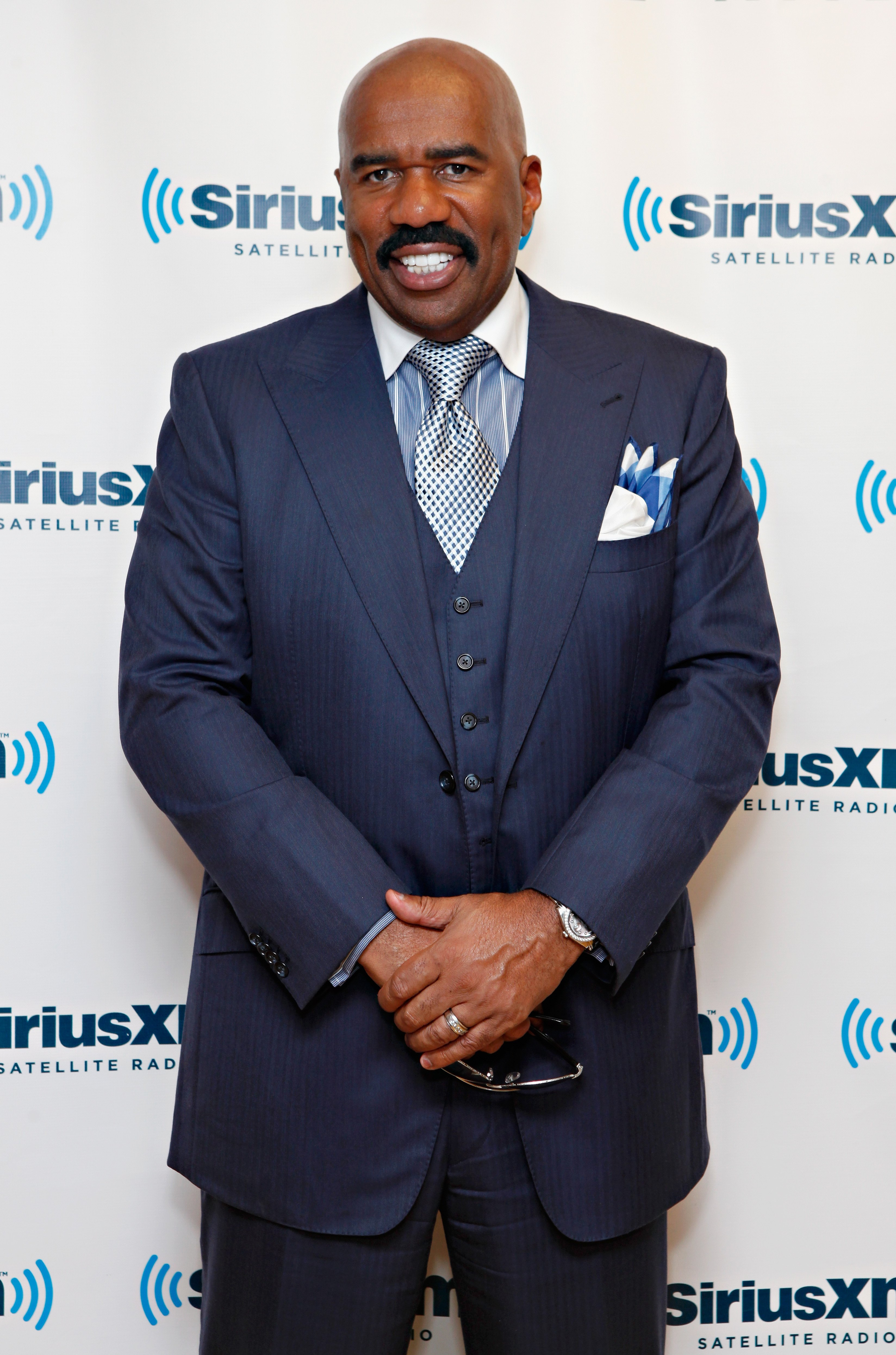 Steve Harvey visits the SiriusXM Studio on August 29, 2012 in New York City | Photo: Getty Images