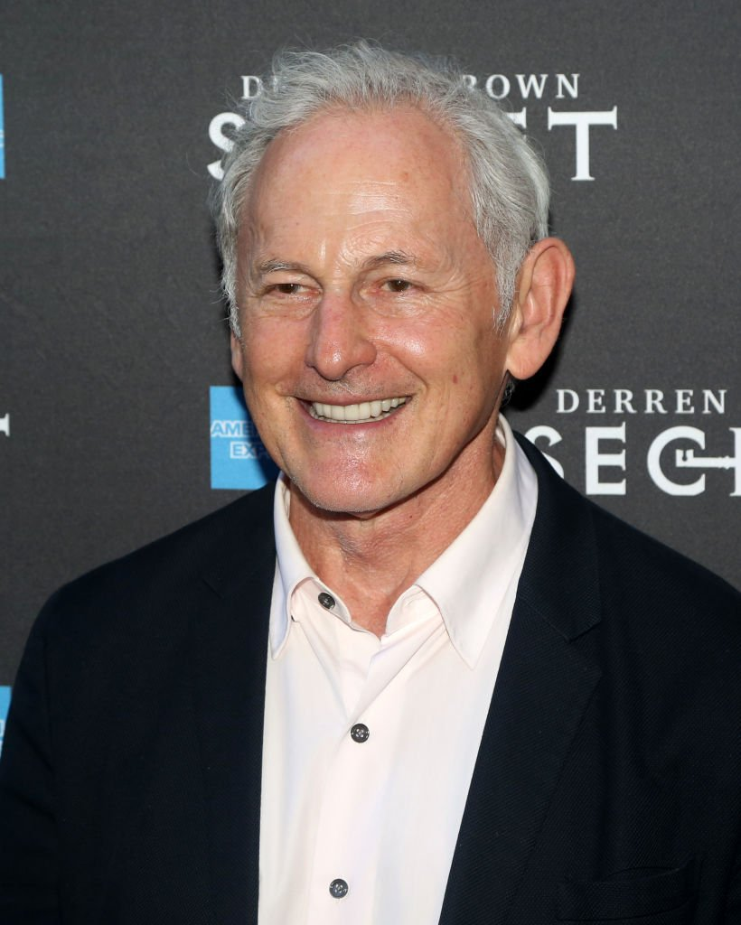"""Victor Garber poses at the opening night of """"Derren Brown: Secret"""" on Broadway at The Cort Theatre on September 15, 2019 