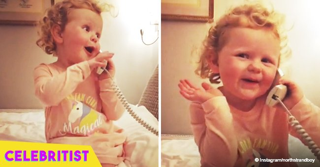 Toddler's hilarious imaginary chat on the phone with her 'great-nanna' still melts hearts