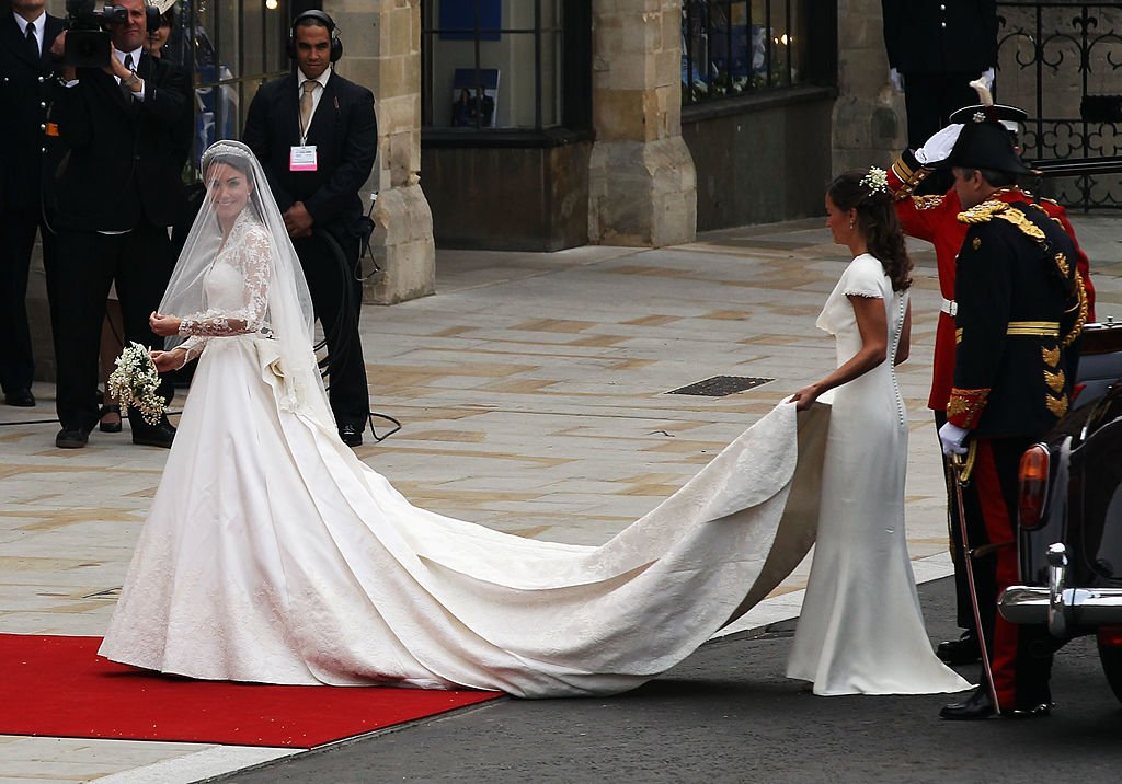 Pippa Middleton au mariage de sa sœur. l Source : Getty Images
