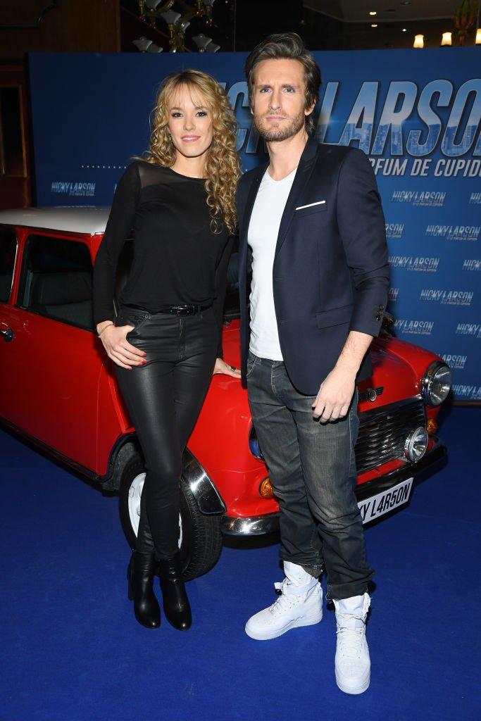 """Les deux acteurs pour la première de """"Nicky Larson"""". l Source : Getty Images"""