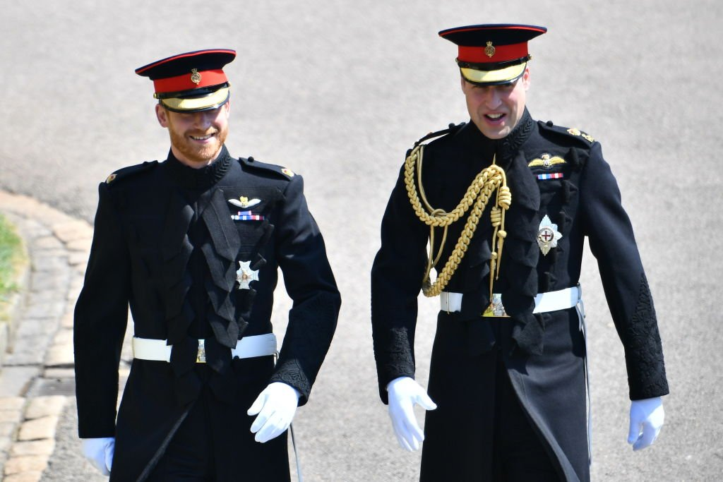 Prince Harry and Prince William arrive at St George's Chapel at Windsor Castle on May 19, 2018, in Windsor, England.   Source: Getty Images.