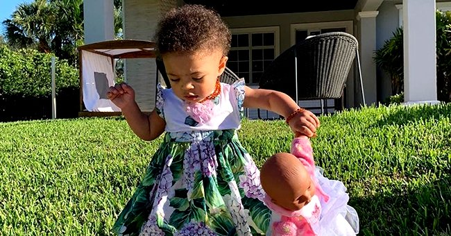 Serena Williams' Daughter Olympia Stuns in Floral Dress in Her 1st  Photo with Qai Qai Doll