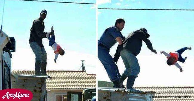 Padre arrojó a su pequeña hija del techo durante enfrentamiento con la policía