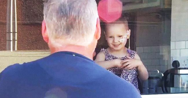 Little Girl with Cancer Reunites with Dad after Almost Two Months Apart Due to Lockdown