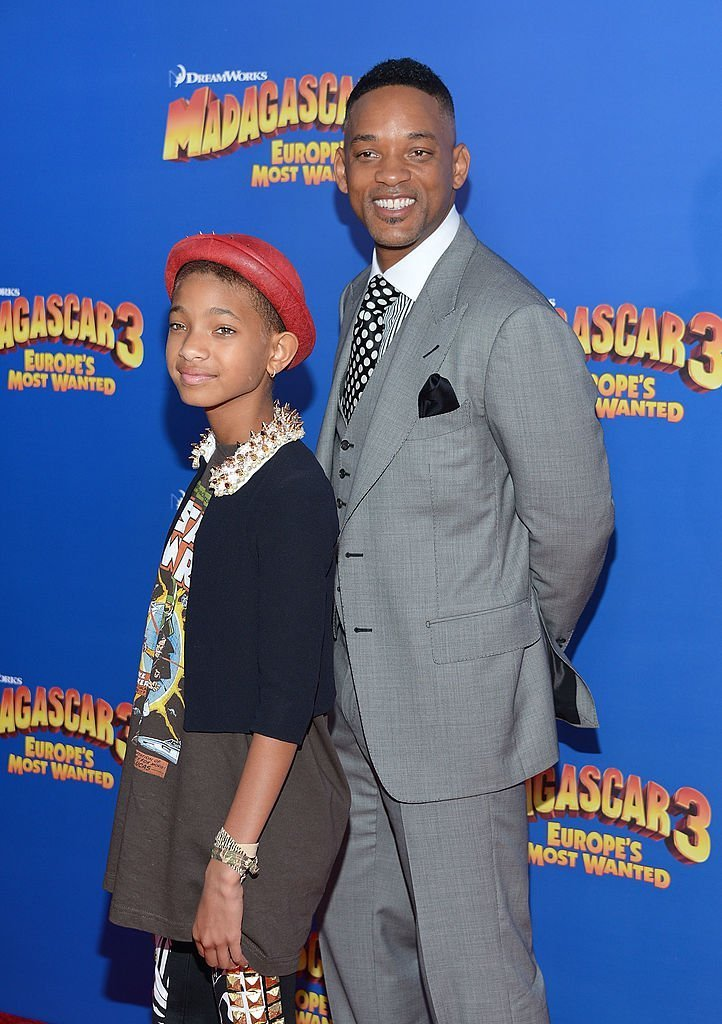 "Will Smith and a young, Willow Smith during the premiere of ""Madagascar 3: Europe's Most Wanted"" in June 2012. 