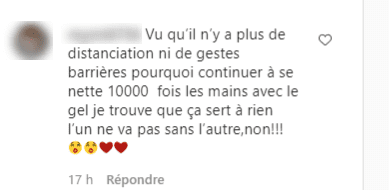 Commentaire d'un internaute sur la photo de Sophie Davant. | Photo : Instagram / sophie_davant