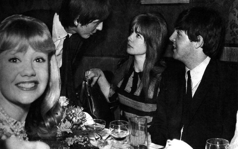 Hayley Mills,George Harrison,Jane Asher,Paul McCartney. | Source: Flickr.com