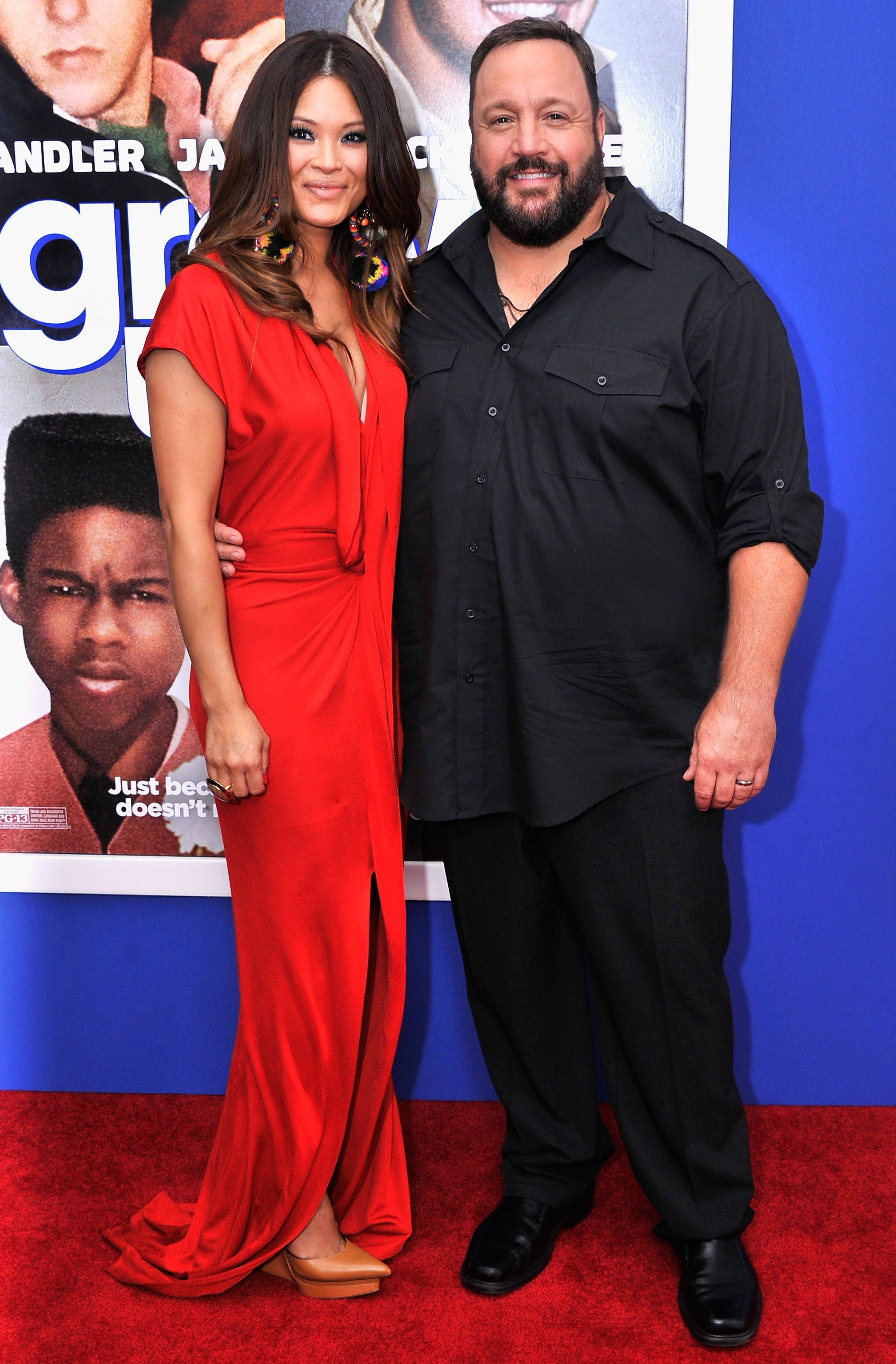 "Steffiana de la Cruz and Kevin James attend the ""Grown Ups 2"" New York Premiere at AMC Lincoln Square Theater on July 10, 2013 in New York City. I Image: Getty Images."