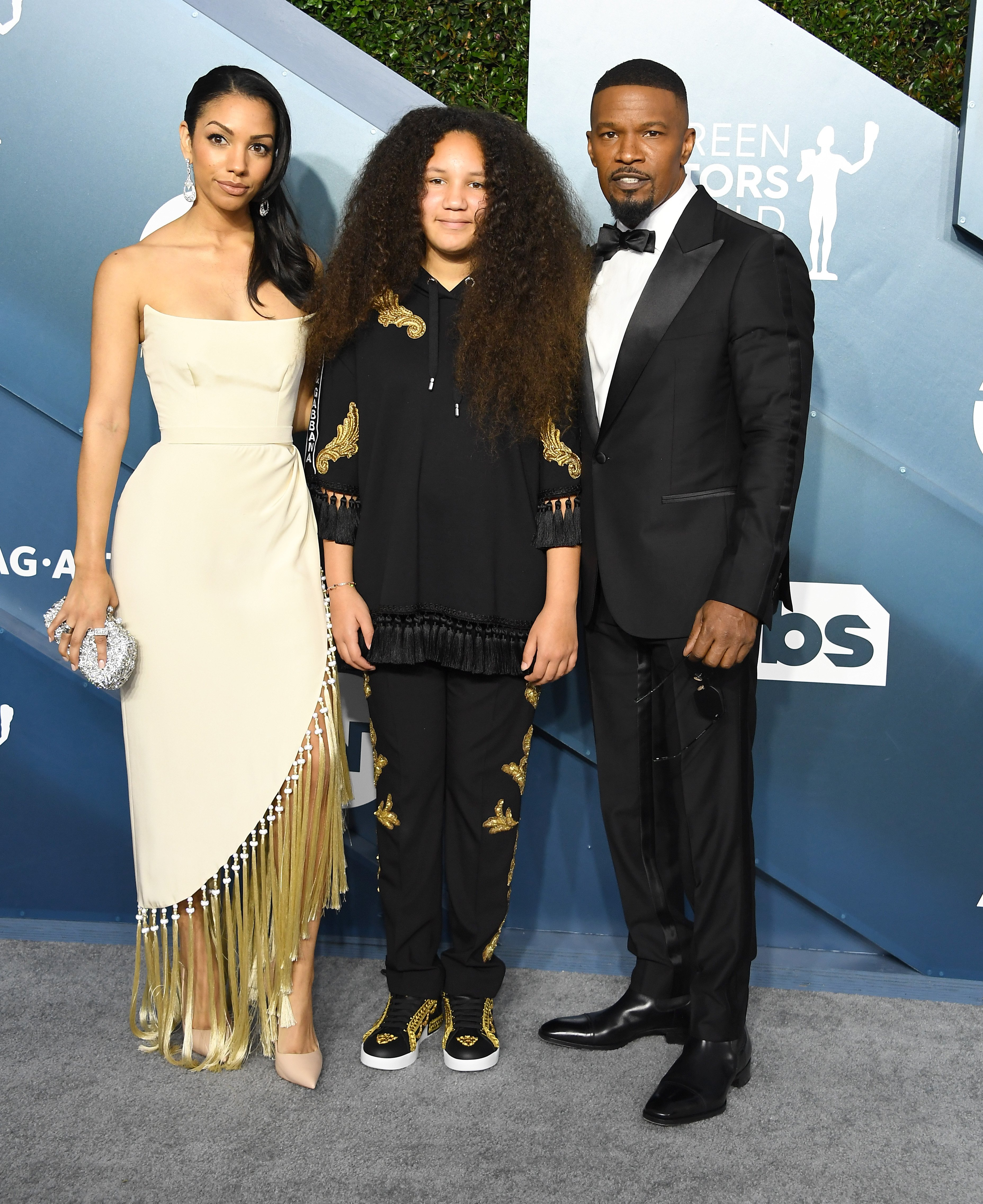 Corinne Foxx, Annalise Bishop and Jamie Foxx arrives at the 26th Annual Screen ActorsGuild Awards at The Shrine Auditorium on January 19, 2020 in Los Angeles, California. | Photo: GettyImages