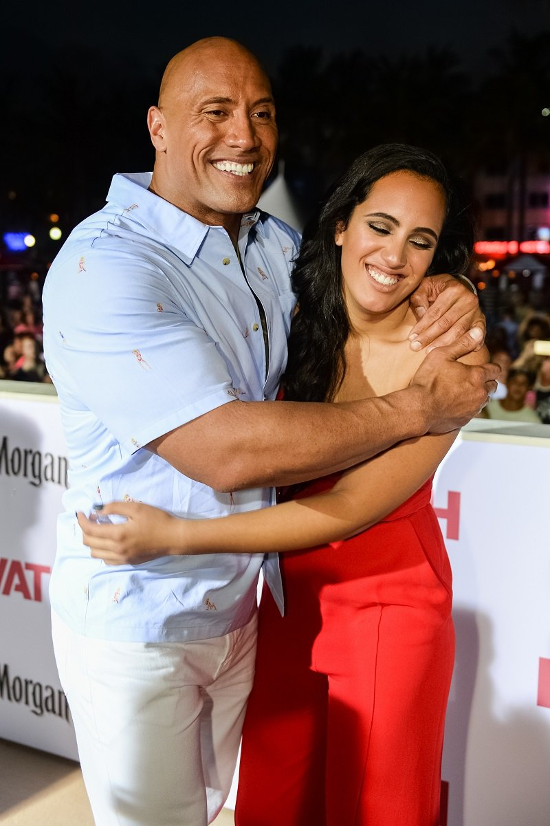 Dwayne Johnson and Simone Johnson on May 13, 2017 in Miami, Florida   Photo: Getty Images