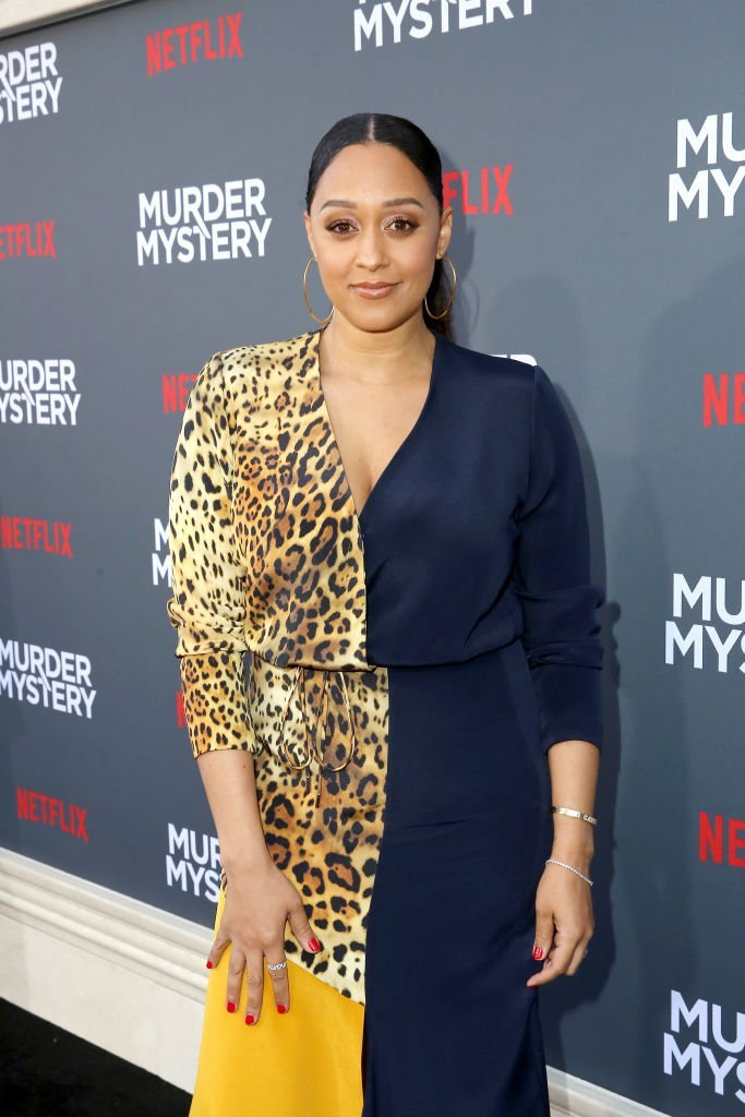 "Tia Mowry-Hardrict attends the Netflix World Premiere Of ""Murder Mystery"" at Village Theatre Westwood 