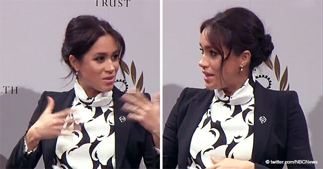 Meghan Feels the 'Embryonic Kicking of Feminism' as She Shows up in a $345 Monochrome Dress