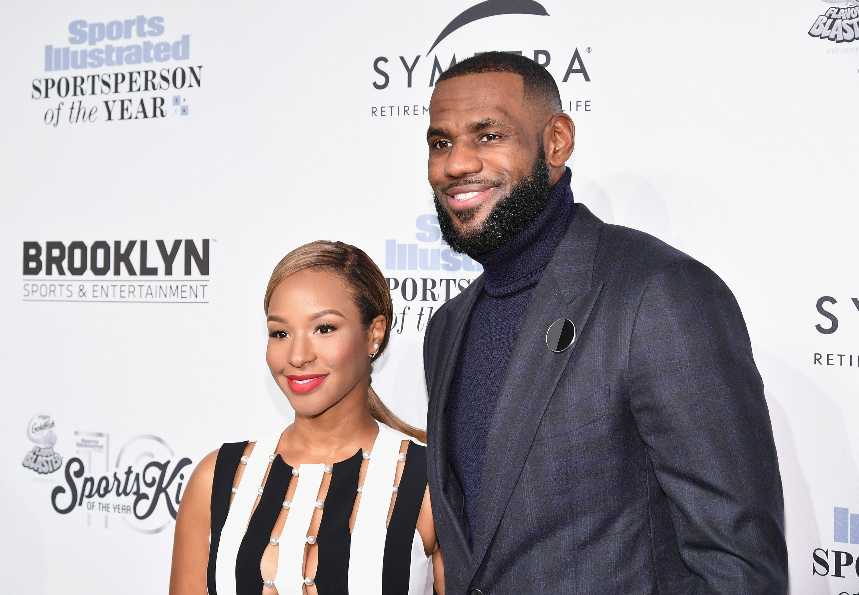 Savannah Brinson and basketball player Lebron James at the Sports Illustrated Sportsperson of the Year 2016 at the Barclays Center in Brooklyn on December 12, 2016 in New York City |  Photo: Getty Images