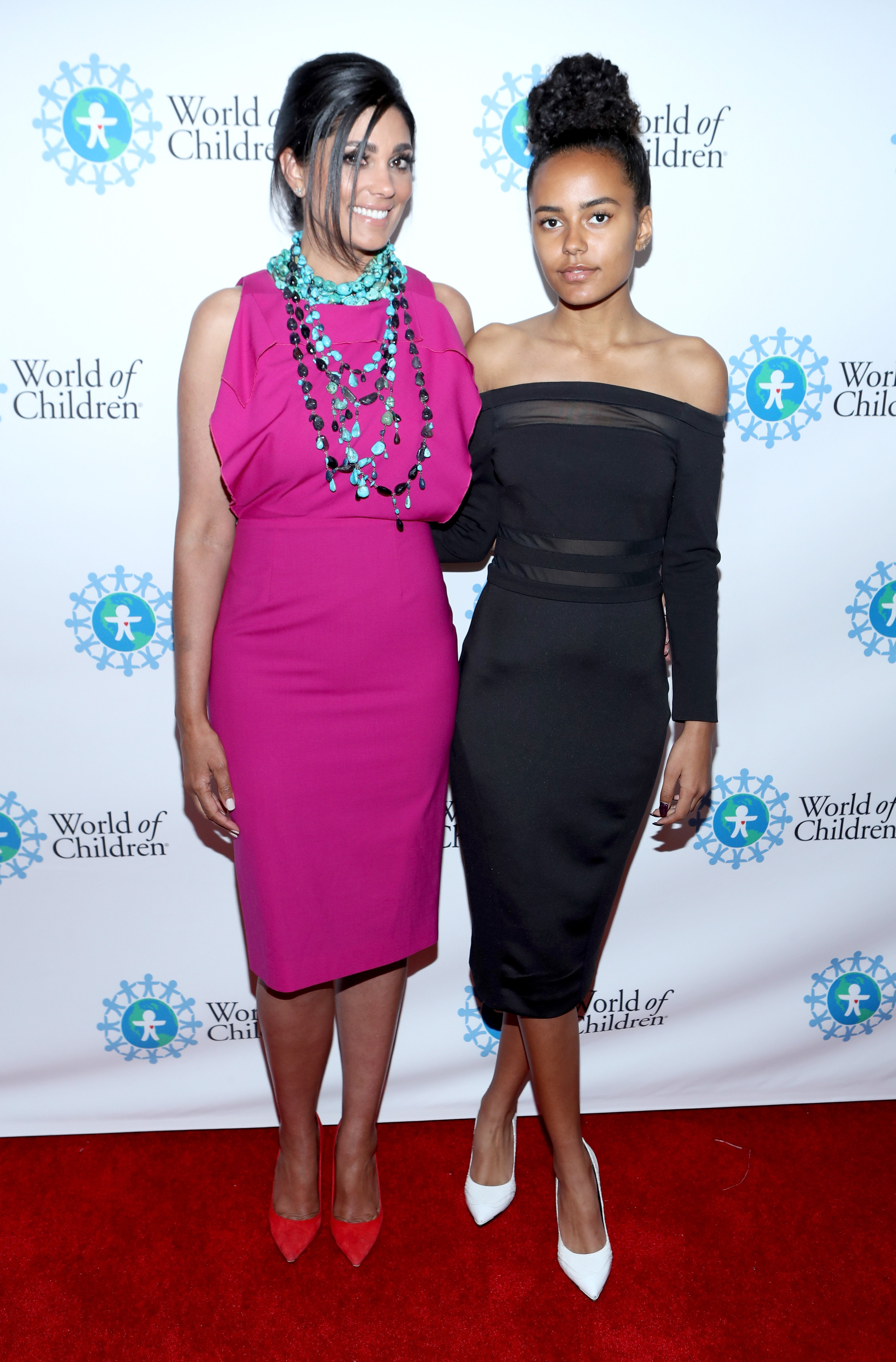 Rachel Roy (L) and Ava Dash at the 2017 World Of Children Hero Awards at Montage Beverly Hills on April 19, 2017, in Beverly Hills, California. | Source: Getty Images.