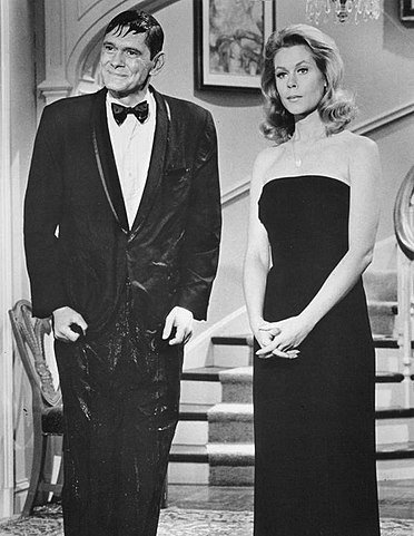 "Dick York and Elizabeth Montgomery in ""Bewitched"" in 1968. 