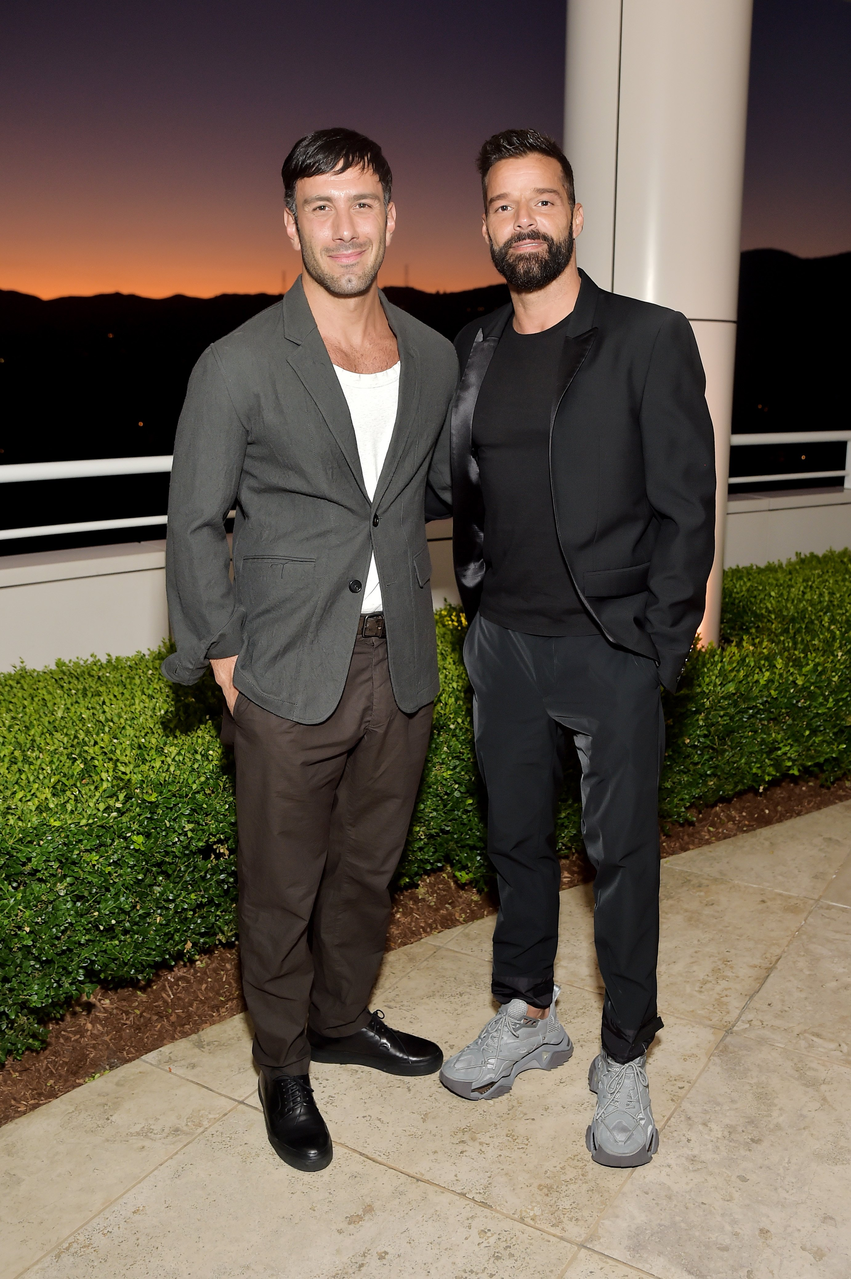 wan Yosef and Ricky Martin attend The J. Paul Getty Medal Dinner on September 16, 2019 in Los Angeles, California. | Source: Getty Images.