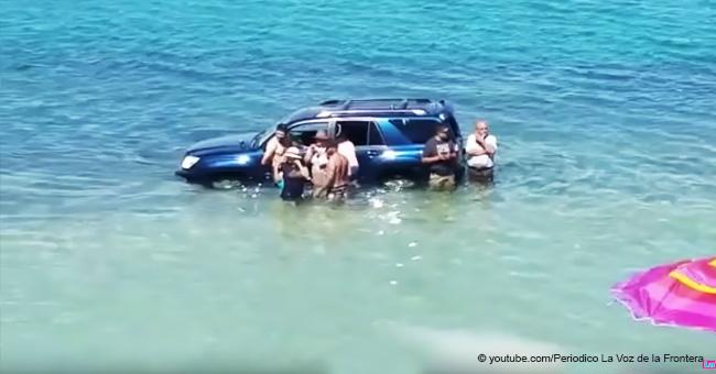 Video revela cómo el mar sorprendió a vacacionistas y se llevó sus autos