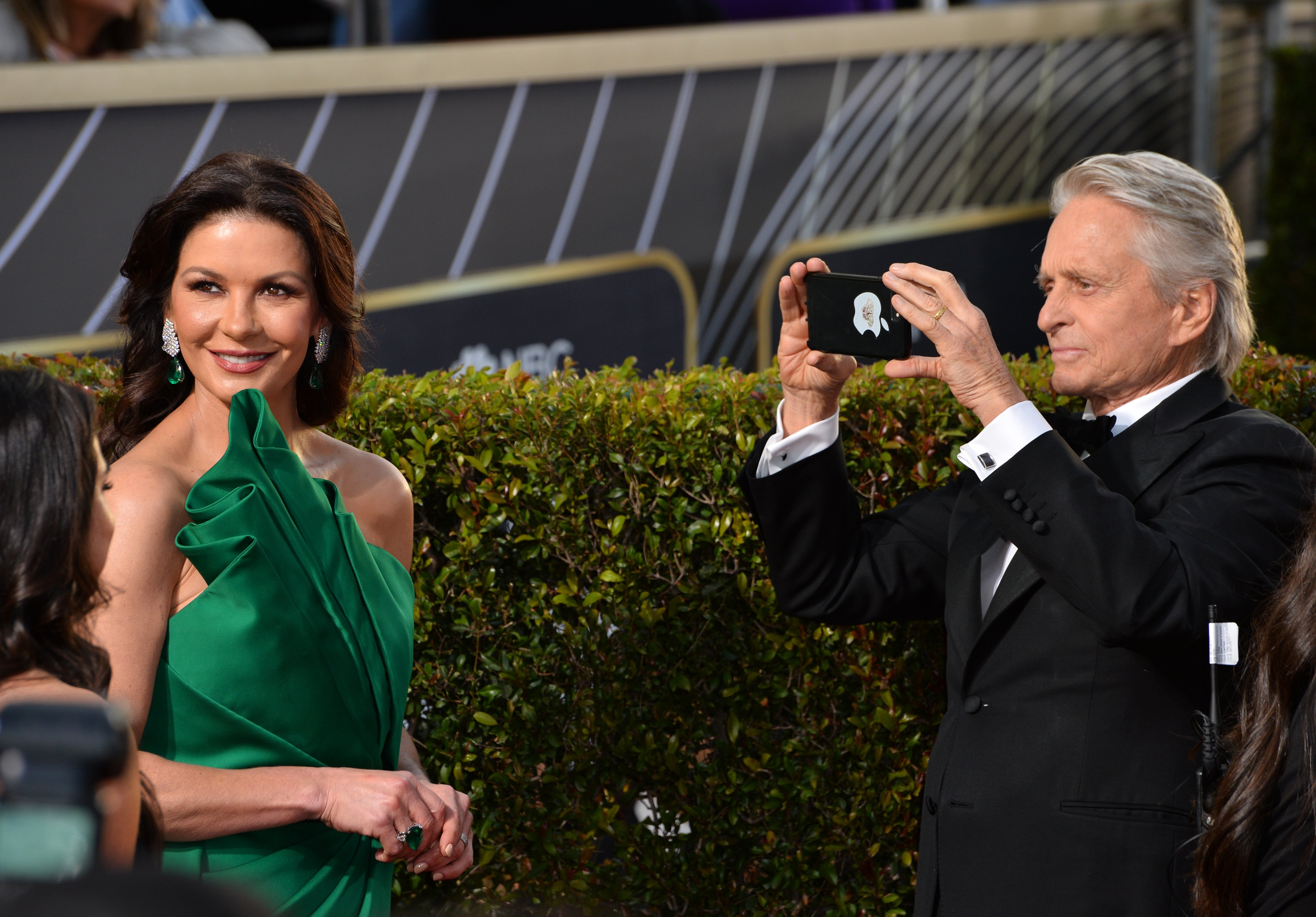 Catherine Zeta-Jones & Michael Douglas at the 2019 Golden Globe Awards at the Beverly Hilton Hotel; January 06, 2019 | Photo: Getty Images