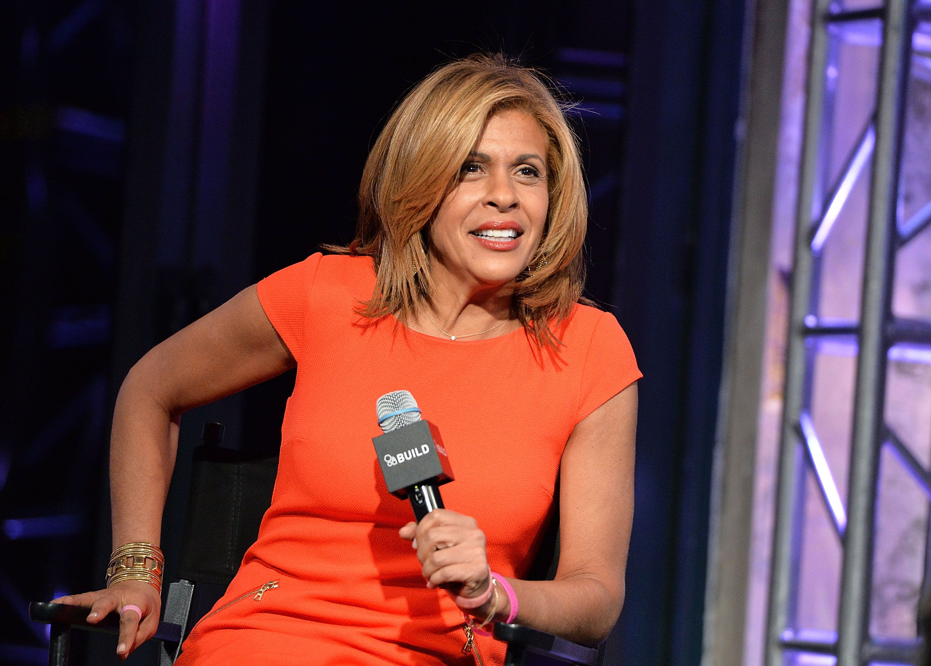 "Today Show host Hoda Kotb discusses her book ""Where We Belong: Journey's that Show Us the Way"" at AOL BUILD Series at AOL Studios In New York on January 6, 2016 