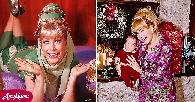 A picture of Hollywood star Barbara Eden and her son | Photo: Getty Images